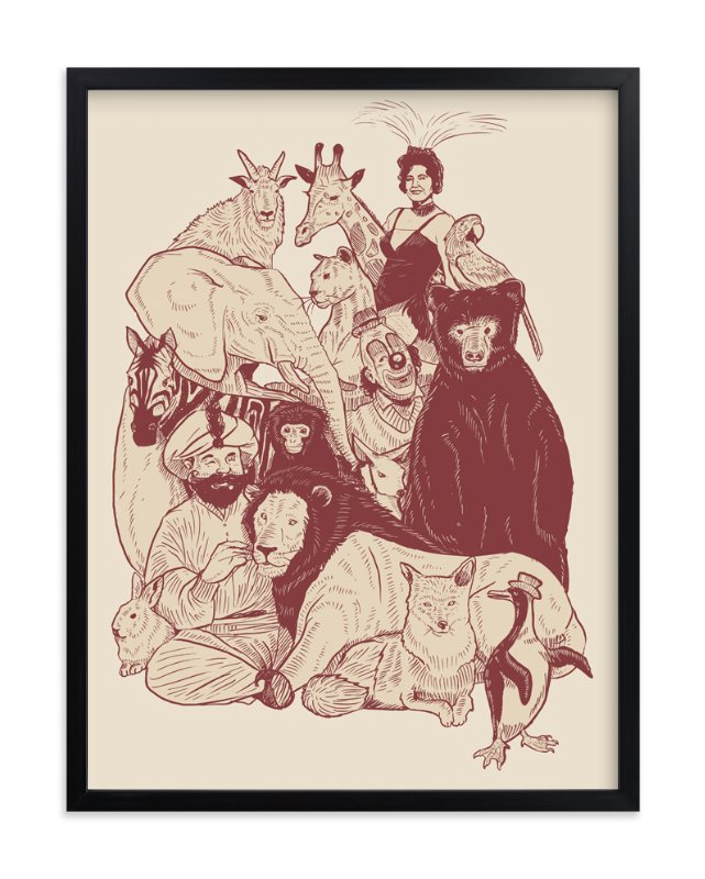 """Family Portrait"" - Art Print by Deyaz in beautiful frame options and a variety of sizes."