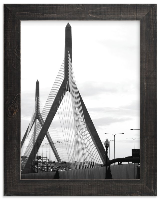 """""""Bridges of Boston"""" - Art Print by Kelsey McNatt in beautiful frame options and a variety of sizes."""