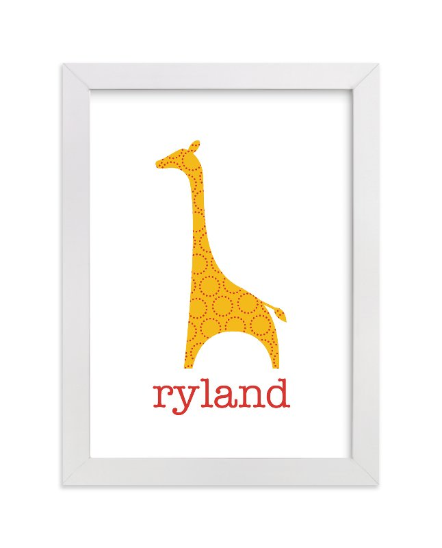 """Patterned Giraffe"" - Nursery Custom Art Print by Ampersand Design Studio in beautiful frame options and a variety of sizes."