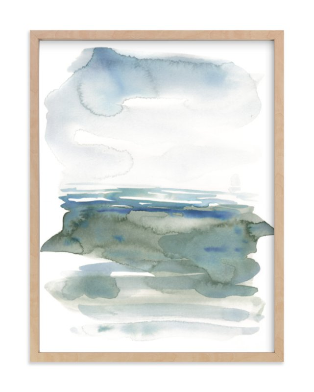 """ocean landscape"" - Art Print by Kelly Witmer in beautiful frame options and a variety of sizes."