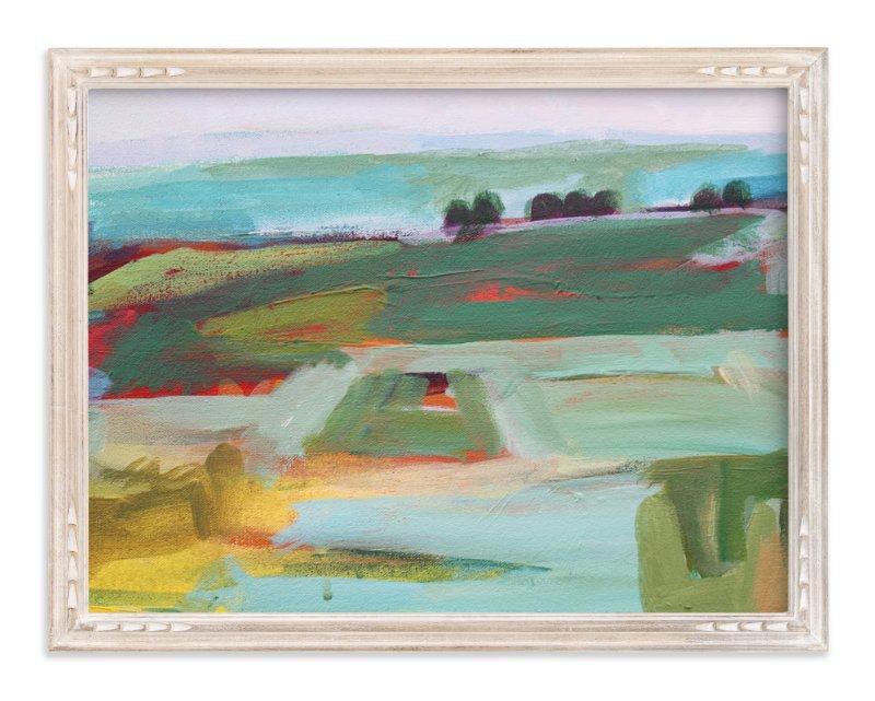 """""""Emerald Land"""" - Art Print by Megan Leong in beautiful frame options and a variety of sizes."""