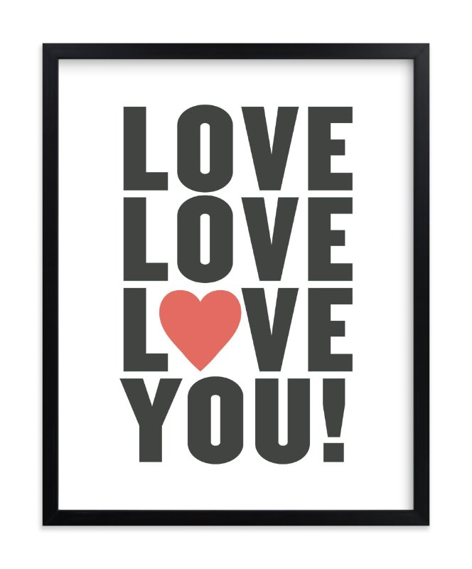 """""""Love You"""" - Limited Edition Art Print by Max and Bunny in beautiful frame options and a variety of sizes."""