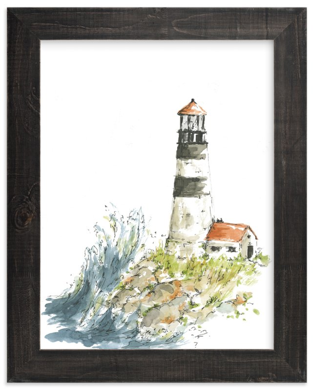 """""""weathering the waves"""" - Art Print by Kirby Lee Smith in beautiful frame options and a variety of sizes."""