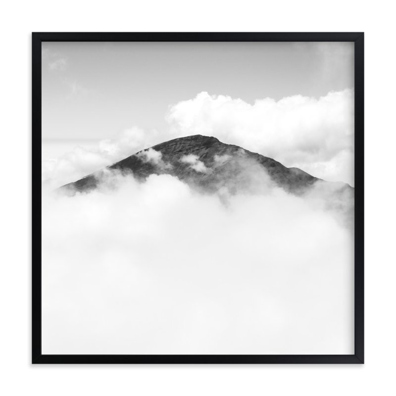 """Volcano Hidden in the Clouds 3"" - Art Print by Mary Ann Glynn-Tusa in beautiful frame options and a variety of sizes."