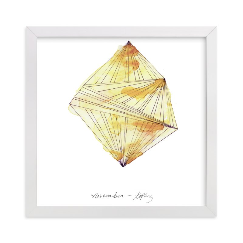 """""""November - Topaz"""" - Art Print by Naomi Ernest in beautiful frame options and a variety of sizes."""