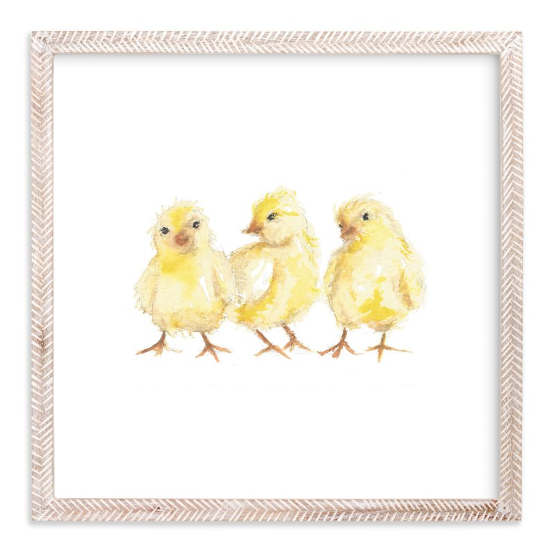 """""""Baby Chicks"""" - Limited Edition Art Print by Carrie Beth Taylor in beautiful frame options and a variety of sizes."""