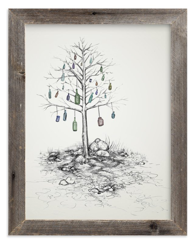 """Time Capsule"" - Art Print by Cynthia Oswald in beautiful frame options and a variety of sizes."