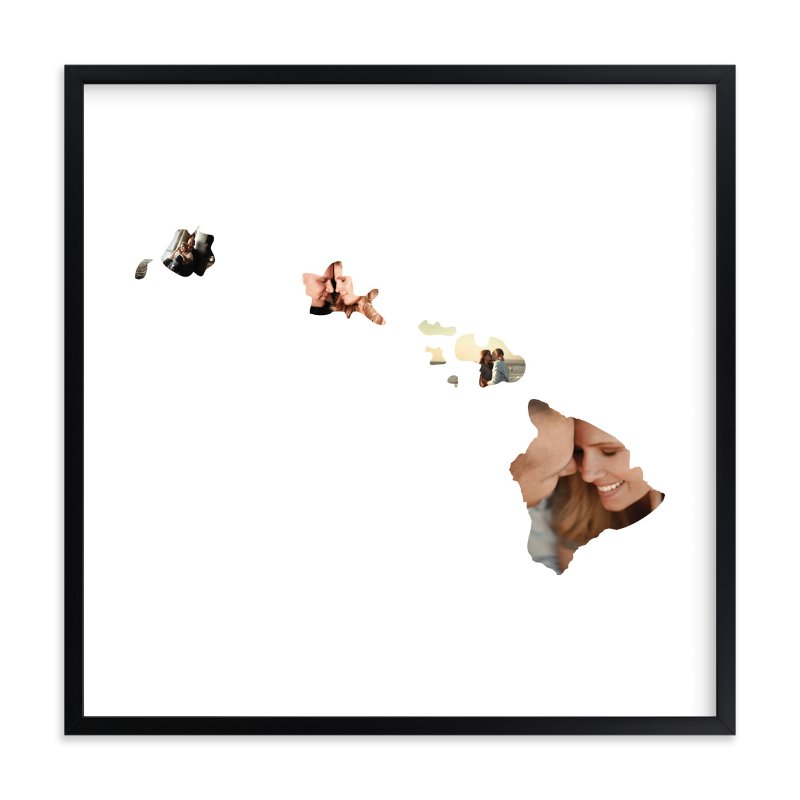 """Hawaii Love Location"" - Custom Photo Art Print by Heather Buchma in beautiful frame options and a variety of sizes."