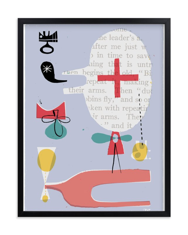 """Fun Games That Make You Laugh"" - Art Print by ERAY in beautiful frame options and a variety of sizes."