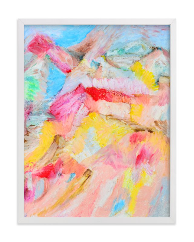 """""""Rainbow Beach"""" - Art Print by Pooja Pittie in beautiful frame options and a variety of sizes."""