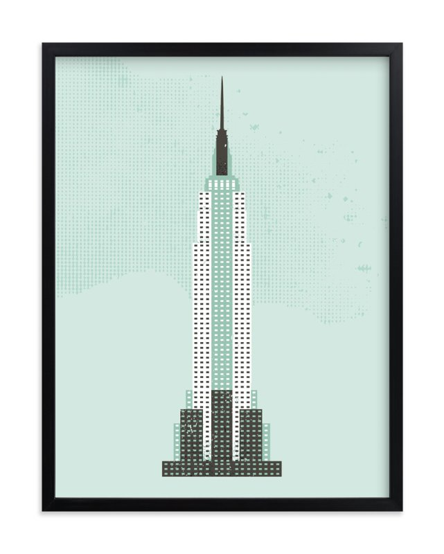 """Empire State Building Flare"" - Art Print by Serenity Avenue in beautiful frame options and a variety of sizes."