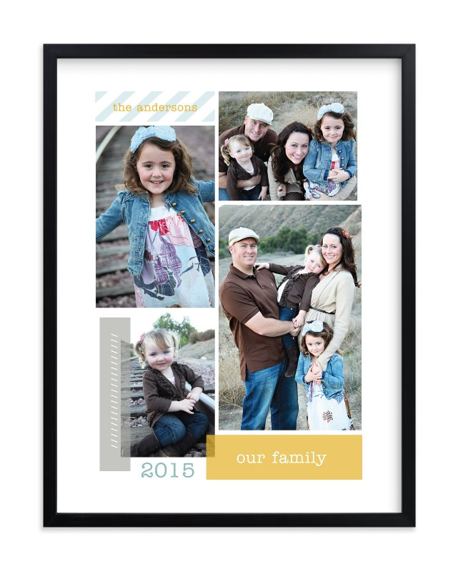"""Family Collage"" - Custom Photo Art Print by Robin Ott in beautiful frame options and a variety of sizes."