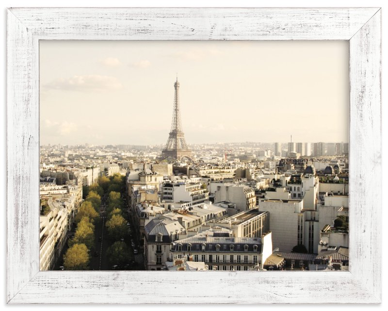 """""""Paris View"""" - Art Print by Bella Design Company in beautiful frame options and a variety of sizes."""