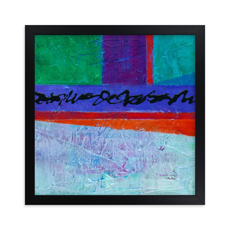 """Color Block I"" - Art Print by Laura Bolter Design in beautiful frame options and a variety of sizes."