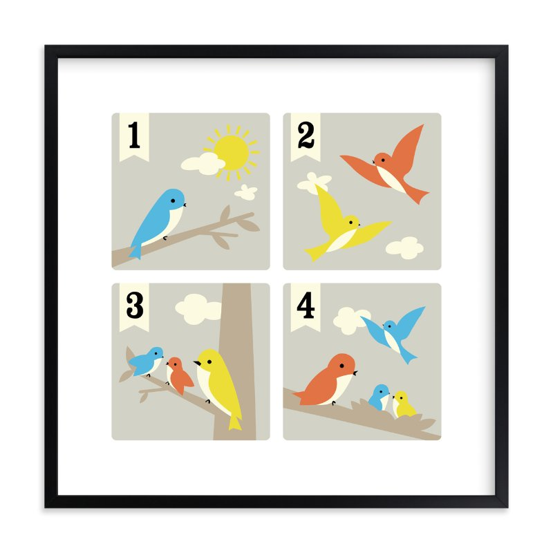"""""""Bird Count"""" - Limited Edition Art Print by Tara Lilly Studio in beautiful frame options and a variety of sizes."""