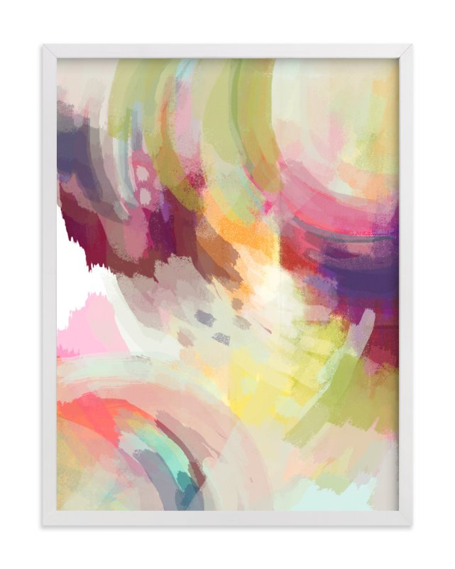 """""""Summer Festival"""" - Art Print by Alison Jerry Designs in beautiful frame options and a variety of sizes."""