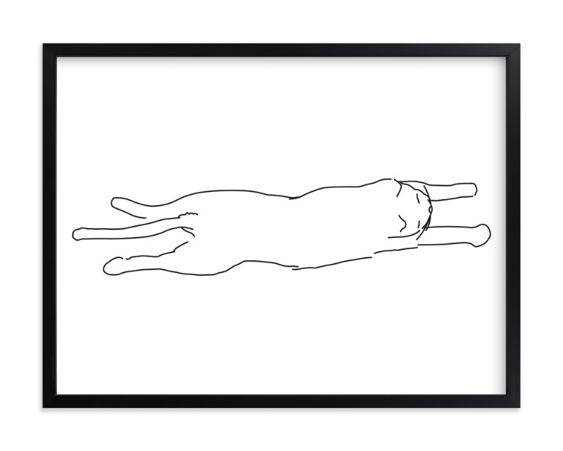 """Sleepy Kitty"" - Art Print by Tyler Tea in beautiful frame options and a variety of sizes."