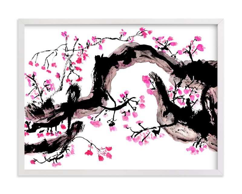 """""""Pink Bloom"""" - Art Print by Stuart Heir in beautiful frame options and a variety of sizes."""