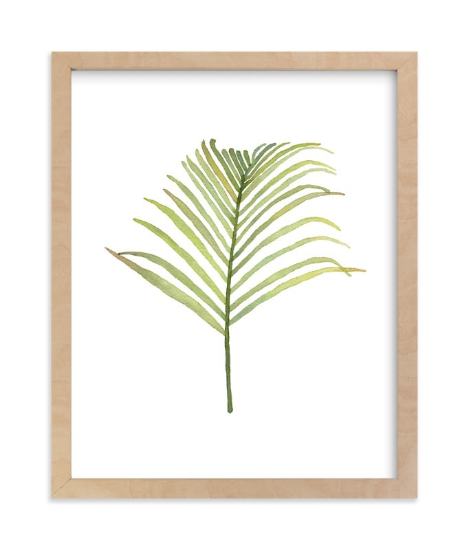 """""""I'm Frond of You No. 1"""" - Art Print by Andi Pahl in beautiful frame options and a variety of sizes."""