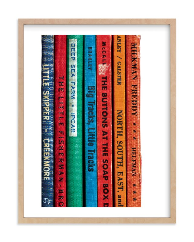 """""""Little Skipper - Vintage Reading Series"""" - Art Print by That Girl Studio in beautiful frame options and a variety of sizes."""