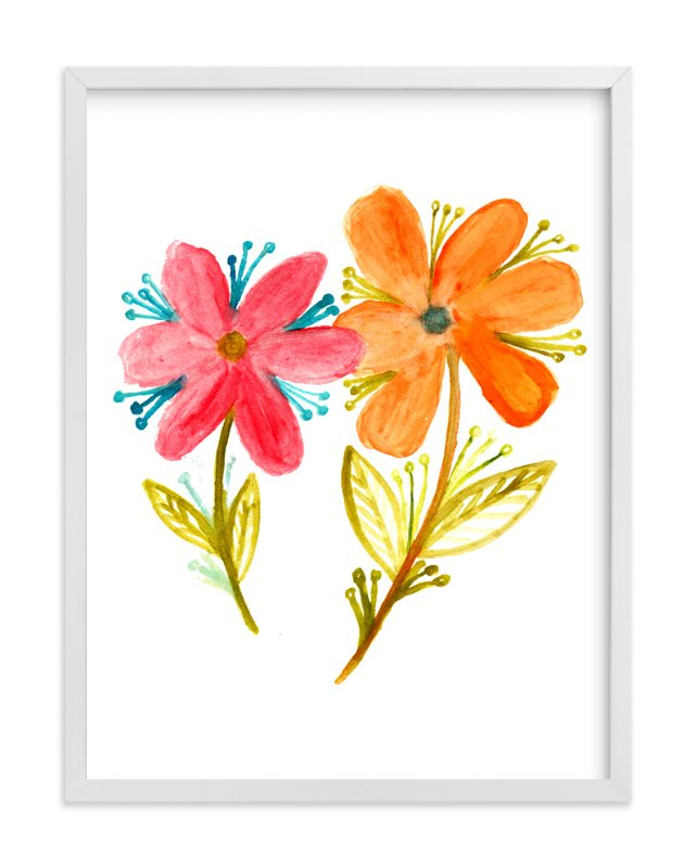 """watercolor painting flowers"" - Art Print by aticnomar in beautiful frame options and a variety of sizes."