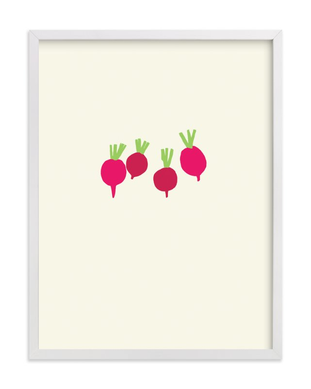"""radishes"" - Art Print by Jorey Hurley in beautiful frame options and a variety of sizes."