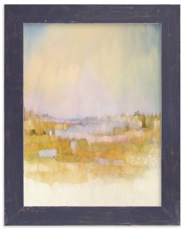 """Fields at Sunrise"" - Art Print by Grace Kreinbrink in beautiful frame options and a variety of sizes."