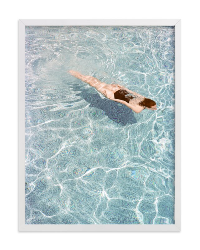 """Going for a Swim"" - Art Print by Whitney Deal in beautiful frame options and a variety of sizes."