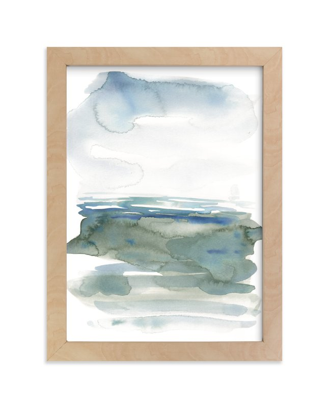 """""""ocean landscape"""" - Art Print by Kelly Witmer in beautiful frame options and a variety of sizes."""