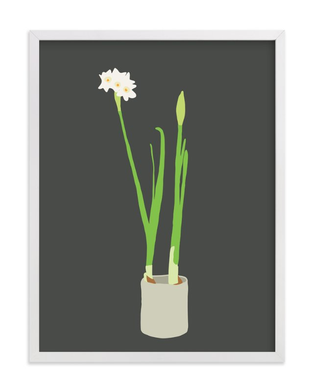 """""""Paperwhites"""" - Limited Edition Art Print by Jorey Hurley in beautiful frame options and a variety of sizes."""