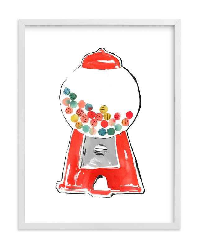 """Gumball Machine"" - Art Print by Kelly Ventura in beautiful frame options and a variety of sizes."