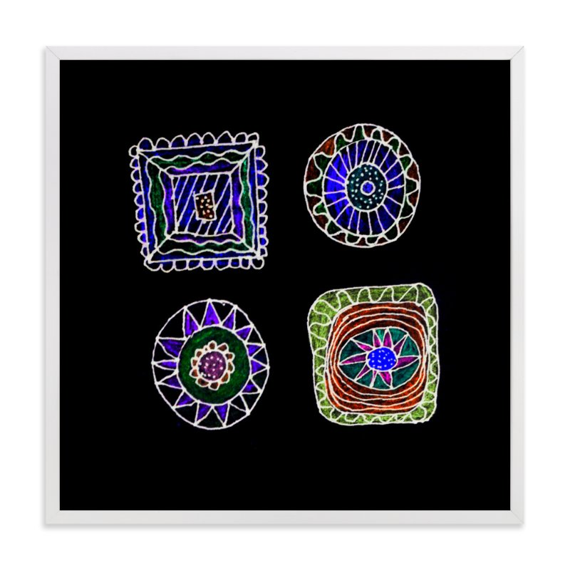 """abstract shapes"" - Art Print by aticnomar in beautiful frame options and a variety of sizes."