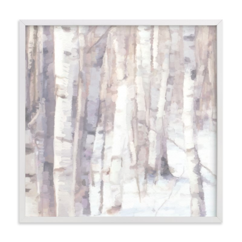 """Winter Birches"" - Limited Edition Art Print by Amy Hall in beautiful frame options and a variety of sizes."