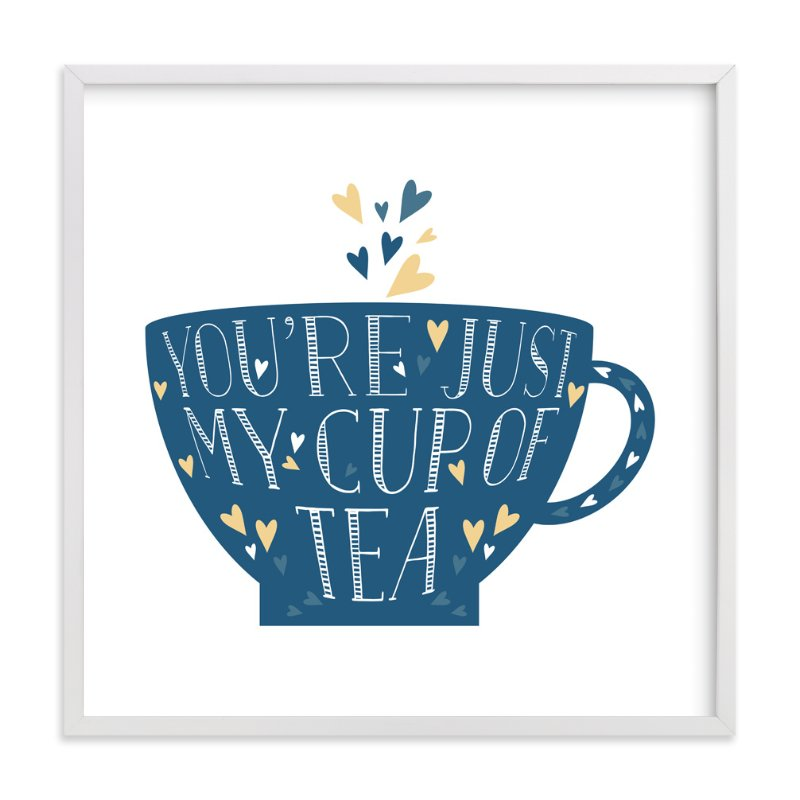 """""""Lettered Cup Of Tea"""" - Art Print by curiouszhi design in beautiful frame options and a variety of sizes."""