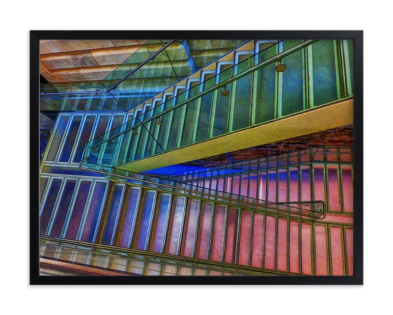 """Stairs NYC Library"" - Limited Edition Art Print by Mazing Designs in beautiful frame options and a variety of sizes."