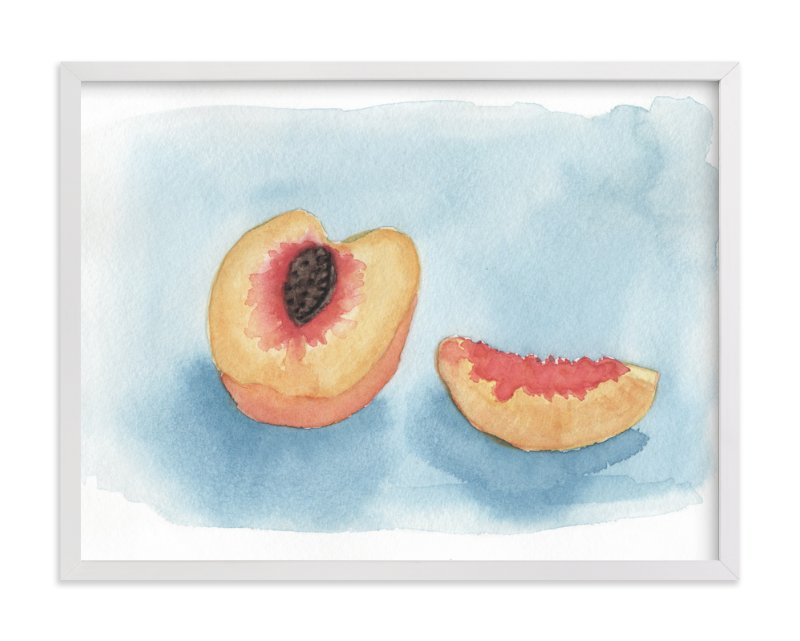 """""""Just Peachy"""" - Art Print by Lily Hanna in beautiful frame options and a variety of sizes."""
