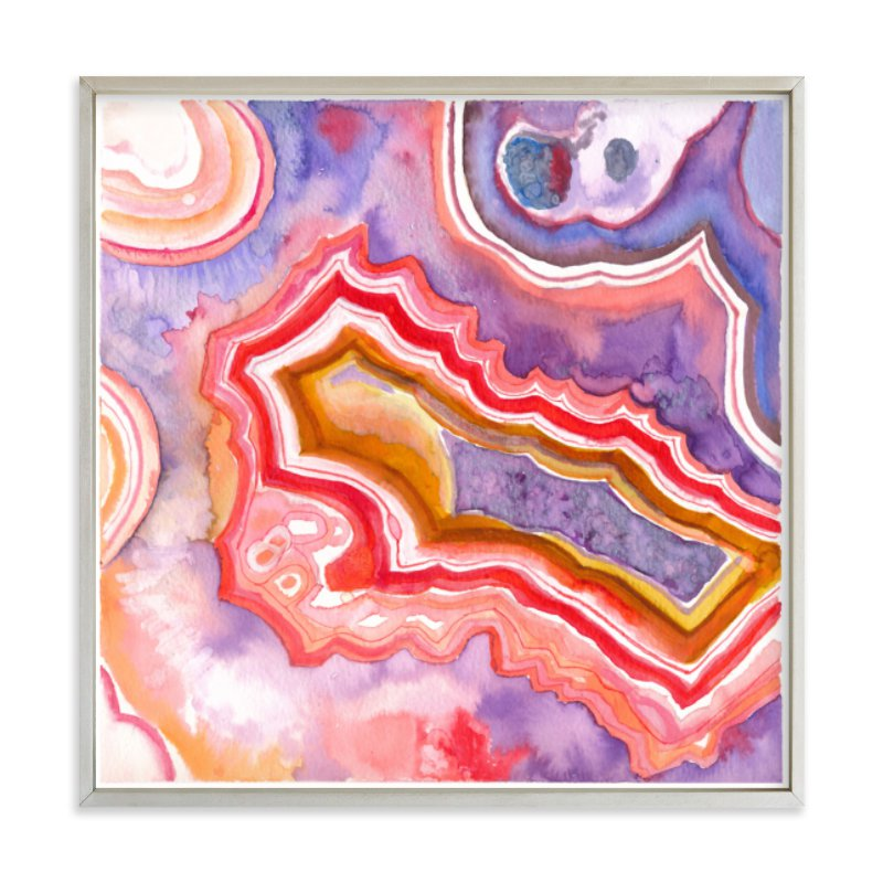 """Abstract Agate"" - Art Print by Laura Rodil in beautiful frame options and a variety of sizes."