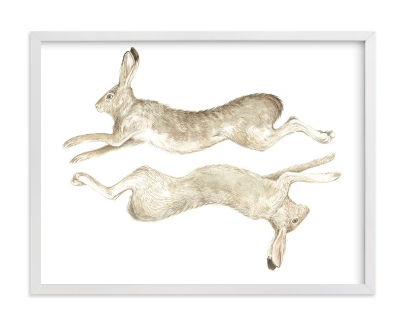 """Runny Bunny No.2"" - Art Print by Eve Schultz in beautiful frame options and a variety of sizes."