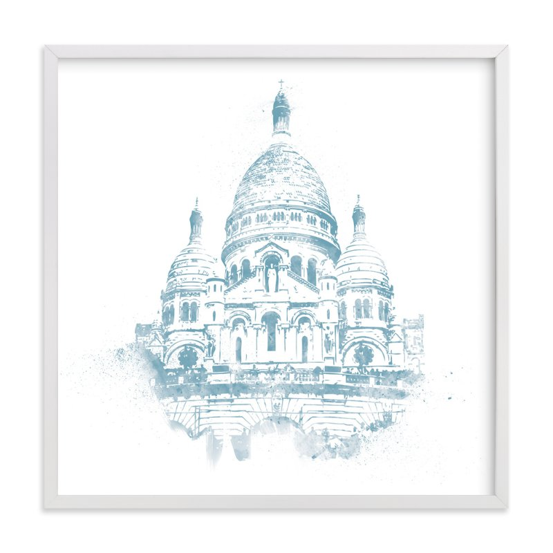 """Sacre Coeur"" - Art Print by Paul Berthelot in beautiful frame options and a variety of sizes."