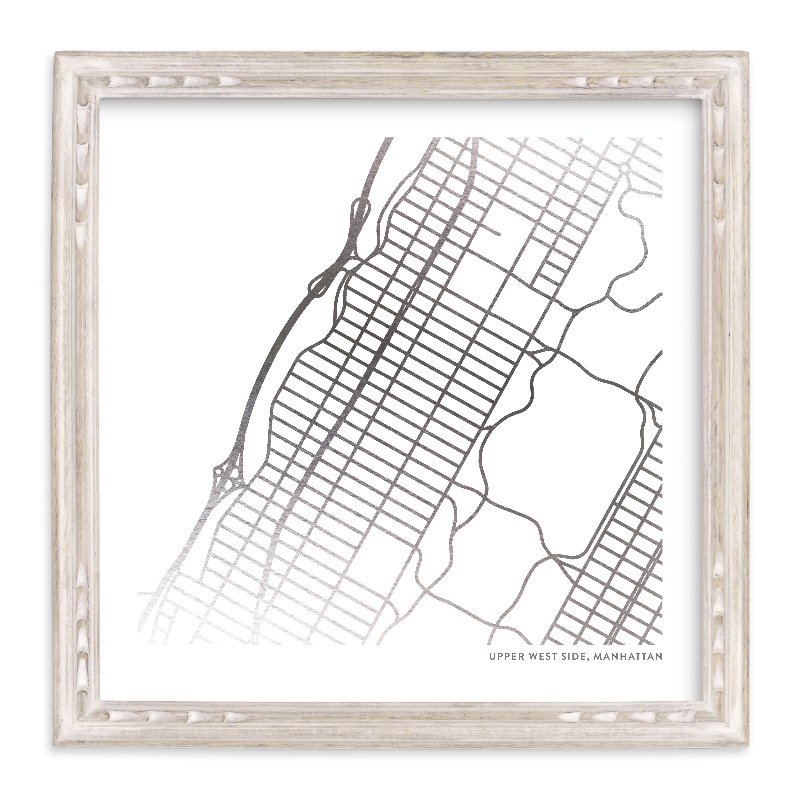 """Custom Map Foil Art"" - Map Foil Art by Minted in beautiful frame options and a variety of sizes."
