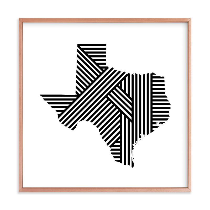 """""""State Lines, Texas"""" - Art Print by Owl and Toad in beautiful frame options and a variety of sizes."""