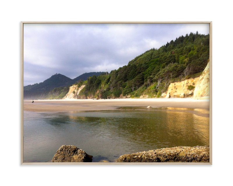 """""""Beach Walk"""" - Art Print by Jan Kessel in beautiful frame options and a variety of sizes."""