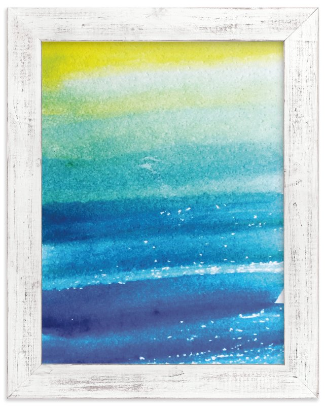 """""""Sunlit Waters"""" - Art Print by Roopali in beautiful frame options and a variety of sizes."""