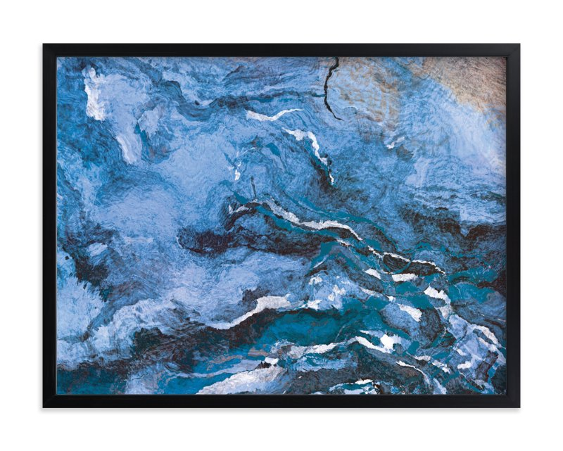 """Raging Sea"" - Art Print by Naomi Eggers in beautiful frame options and a variety of sizes."