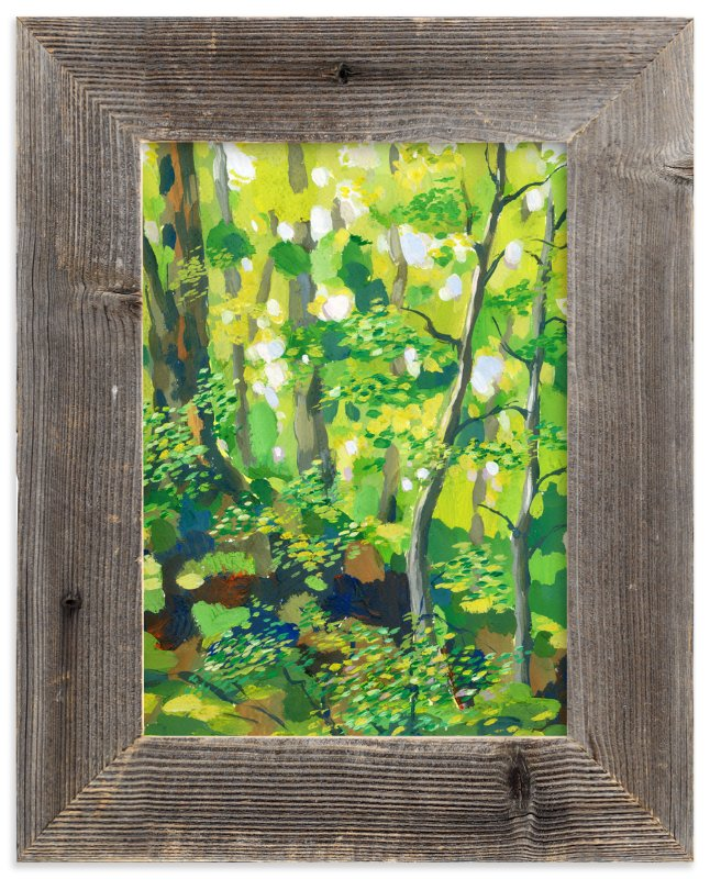 """Green forest"" - Art Print by Alexandra Dzh in beautiful frame options and a variety of sizes."