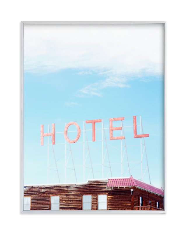 """""""Hotel"""" - Art Print by Jamie Lollback in beautiful frame options and a variety of sizes."""