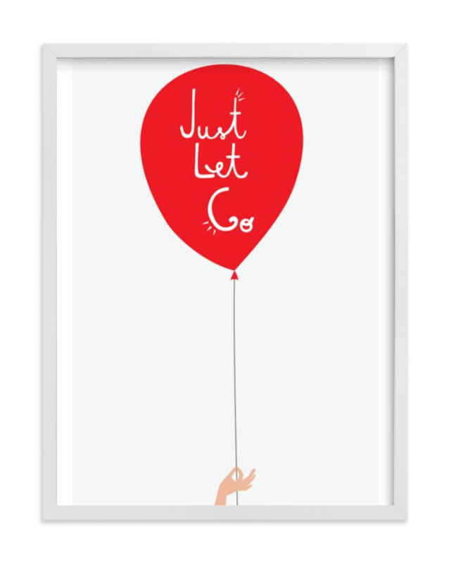 """Just Let Go"" - Art Print by Kayla King in beautiful frame options and a variety of sizes."