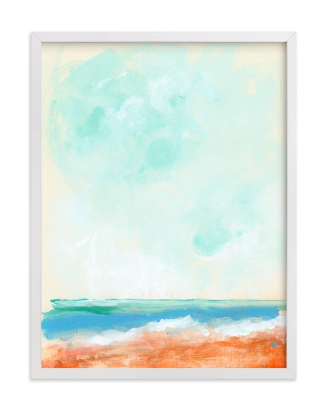 """""""Beach Blaze"""" - Limited Edition Art Print by Lindsay Megahed in beautiful frame options and a variety of sizes."""