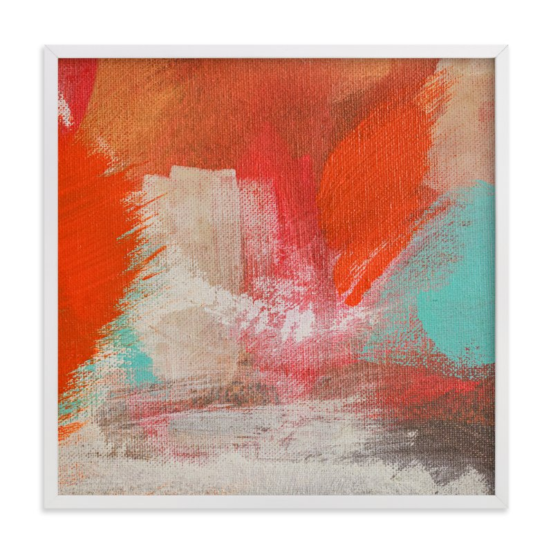 """""""Fire on the Water"""" - Art Print by Stacy Kron in beautiful frame options and a variety of sizes."""