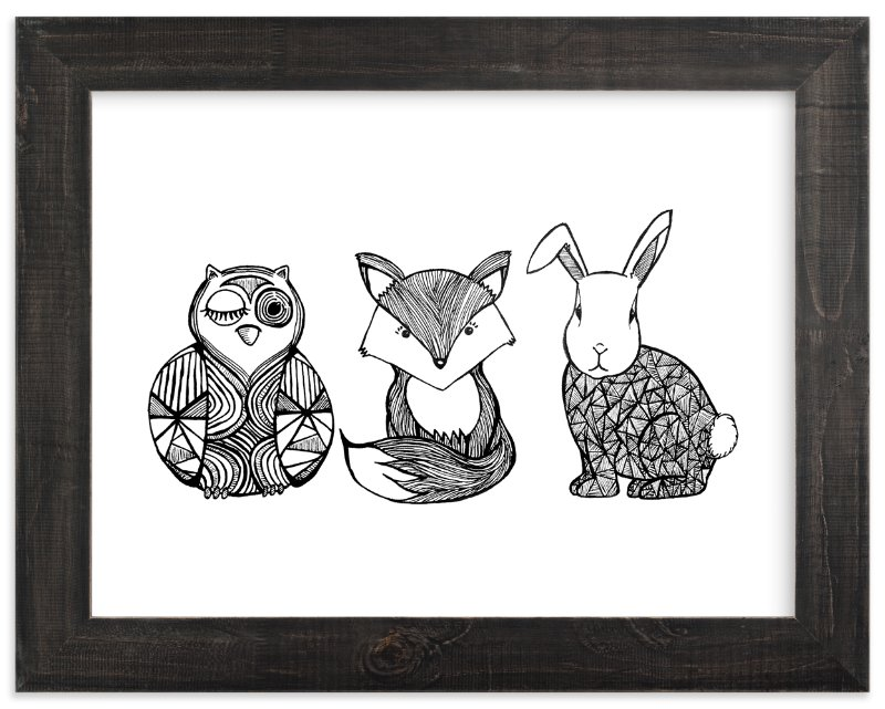 """Forest Friends"" - Limited Edition Art Print by Lindsay Hanson in beautiful frame options and a variety of sizes."